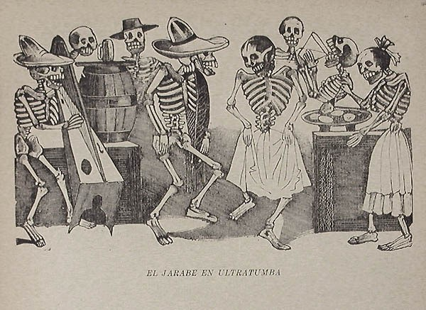 The Folk Dance Beyond The Grave, Artist José Guadalupe Posada