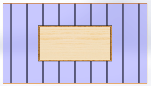 Initial Wooden Glass Board Design with Struts