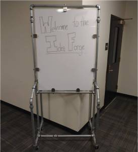 Glass Writing Board in the Idea Forge (on campus)