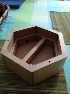 Top side of desk garden mold.