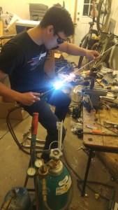 Oxyacetylene torch brazing