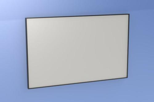 Front view of glass writing board assembly