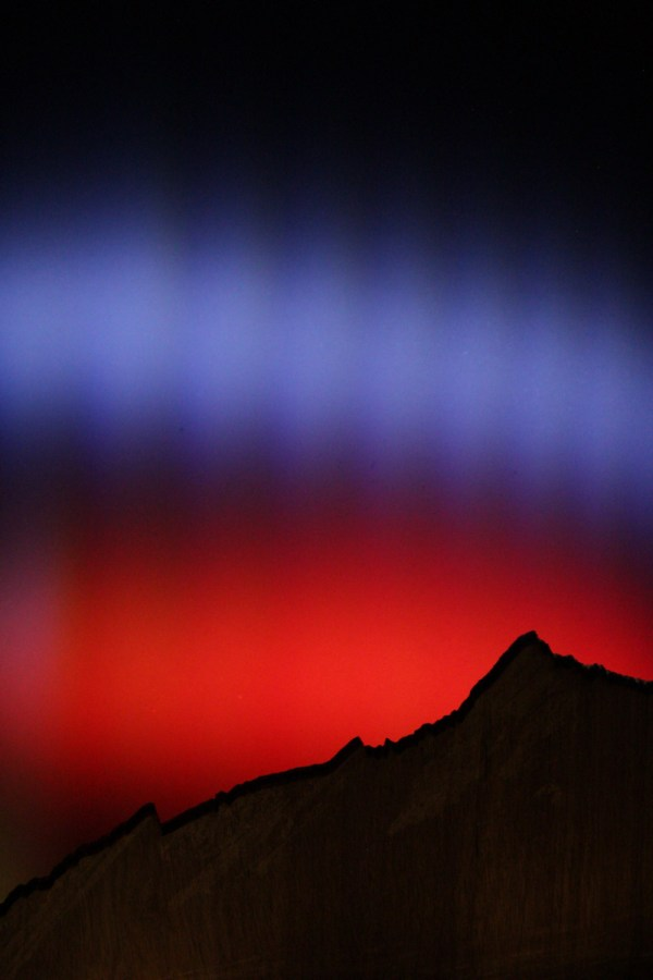 Back-lit Flatirons Panorama by Roshan Misra