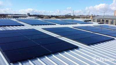 Commercial scale solar PV installation by AES Solar