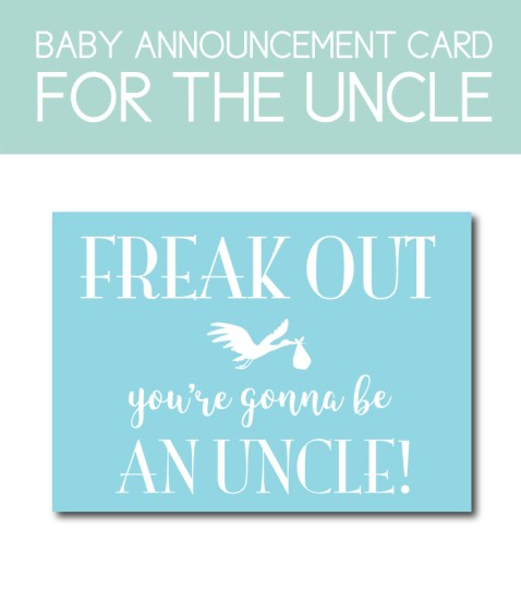 Baby Announcement for the Uncle