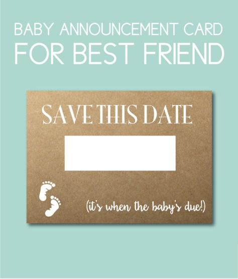 Save the Date Baby Card