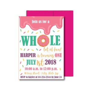 Donut Themed Party Invite