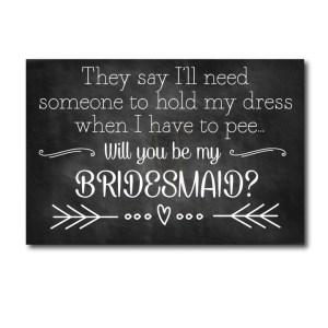 Funny Printable Bridesmaid Ask Card