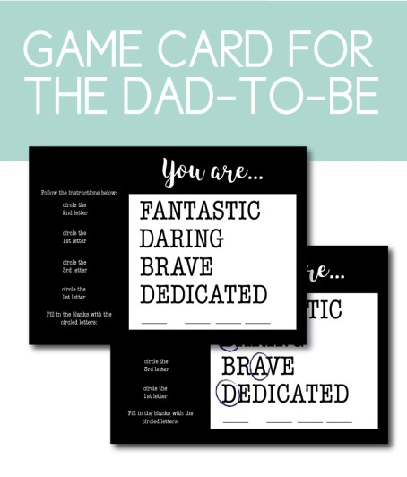 Baby Announcement Game for Dad-to-Be