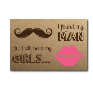 Found My Man Bridesmaid Card