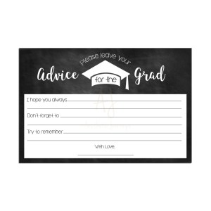 Chalkboard Graduation Advice Cards