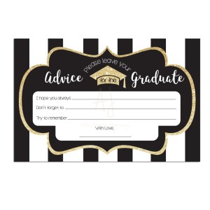 Striped Graduation Advice Cards