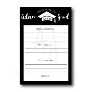 Advice Cards for Graduation