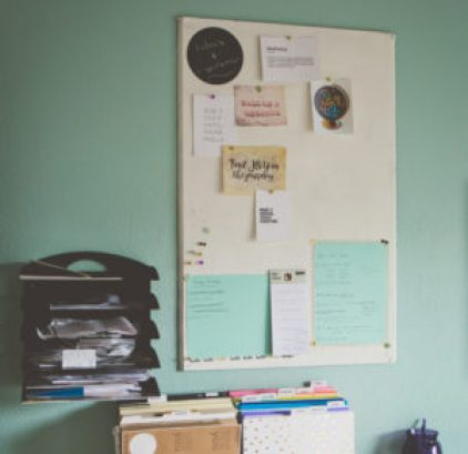 Craft Room Cork Board | Photo by Emily Anne Photography