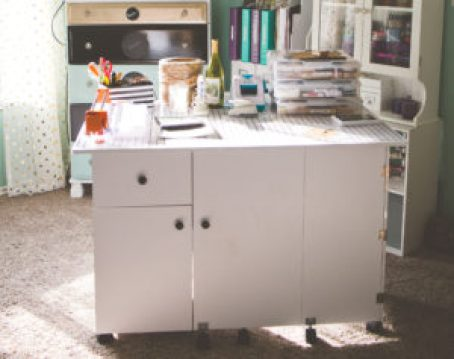 Craft Room Desk | Photo by Emily Anne Photography