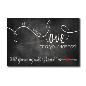 Chalkboard Maid of Honor Ask Card