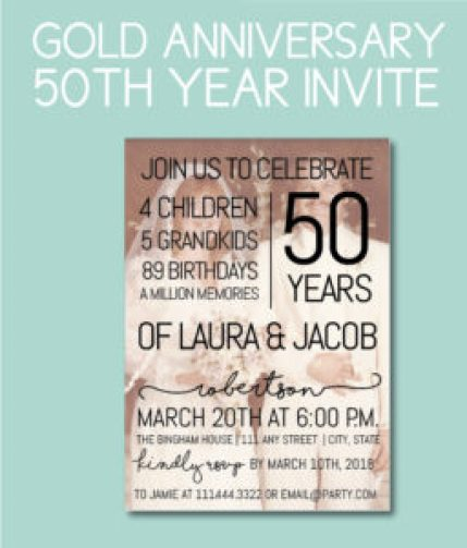 50th Anniversary Photo Party Invite