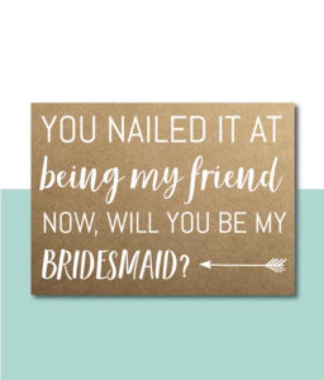You Nailed It At Being My Friend Card