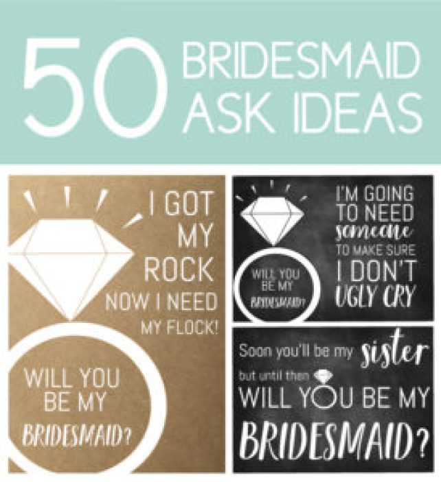 Bridesmaid Asking Ideas | Bridesmaid Ask Ideas 50 Phrases To Ask Your Girls To Be Part Of