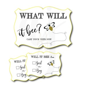 Bee Gender Reveal Cards