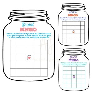 Bridal BINGO Printable Shower Game