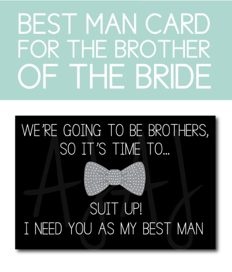 Brother of the Bride Best Man Card
