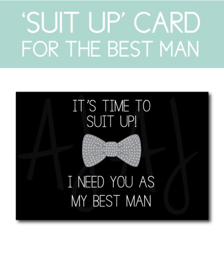 Best Man Card for the Brother or friend of the Groom