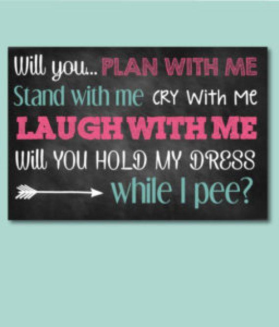Bridesmaid Ask Quote