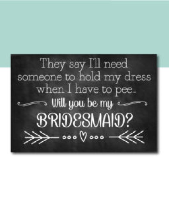 Hold My Dress When I Pee Bridesmaid Ask