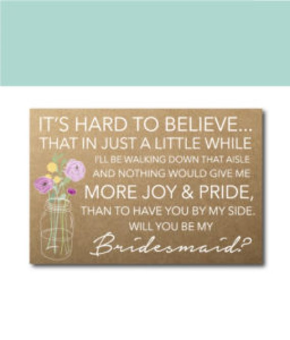 Bridesmaid Quote Ask Card