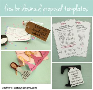 Download free templates for each of our unique bridesmaid proposals on the Journey Junkies page