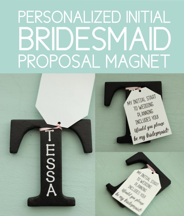 Magnetic, Unique Bridesmaid Proposals Personalized Initial