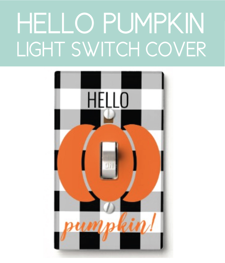 Buffalo Check Fall Decor light cover