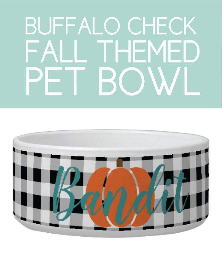 Fall themed food bowl for the dog or cat