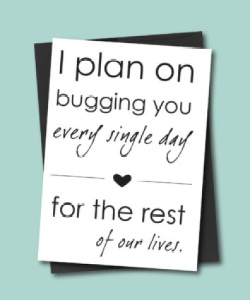 Plan to Bug You Anniversary Card