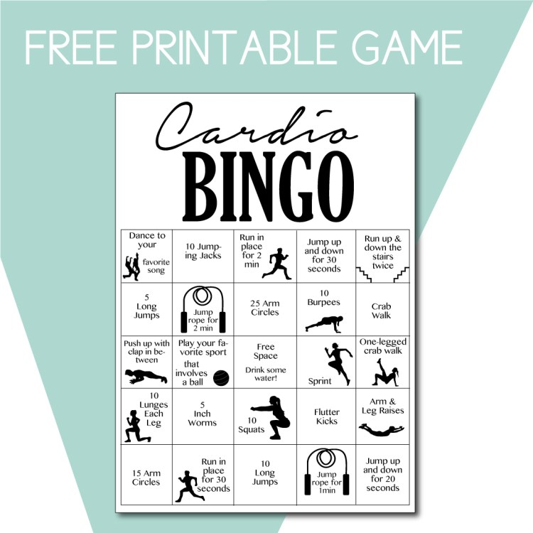 Cardio Bingo Game to Play at Home