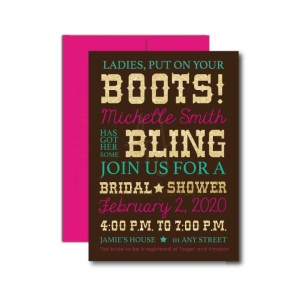 Country Bridal Shower Invite