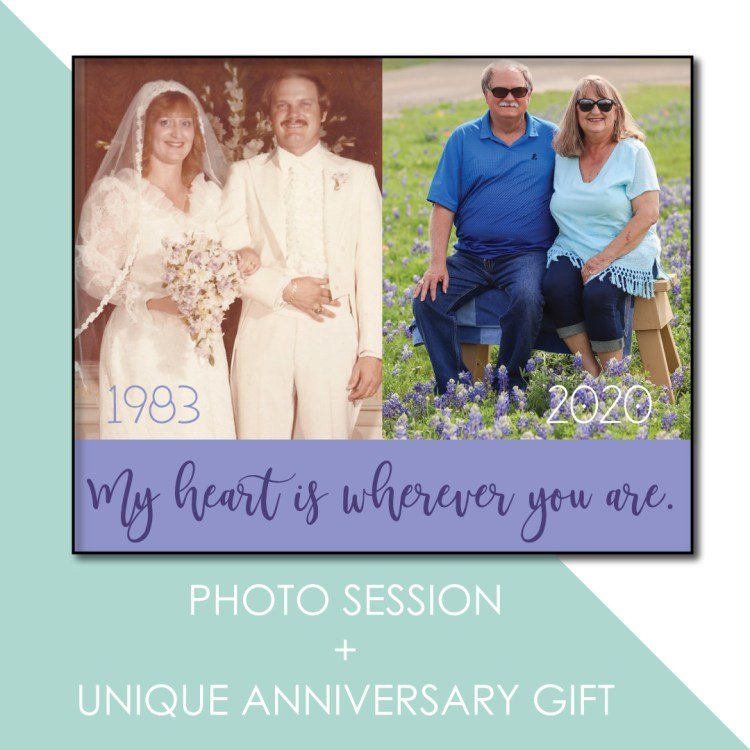 session and receive a unique anniversary gift for the parents.