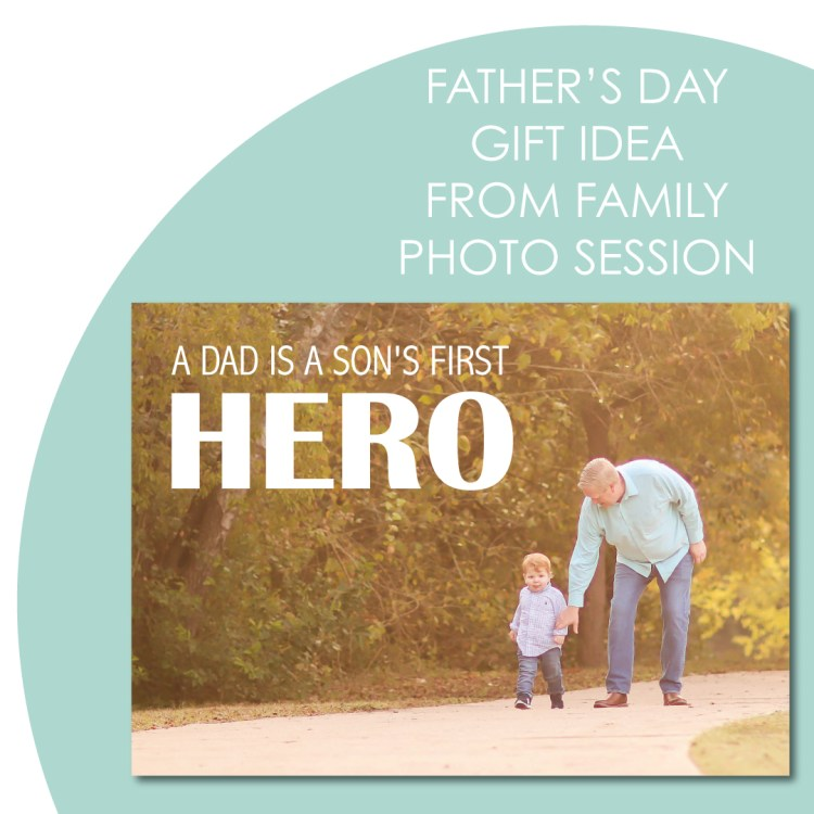 Father's Day gift idea using photos from the family photo session