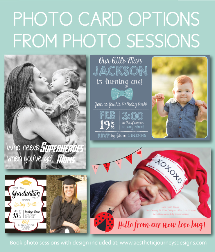Photo card designs to match your session