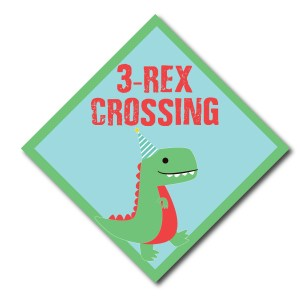 Custom Dinosaur Themed Party Sign