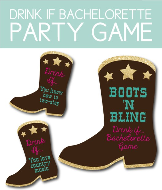 "Printable ""Drink If..."" Bachelorette Party Game"