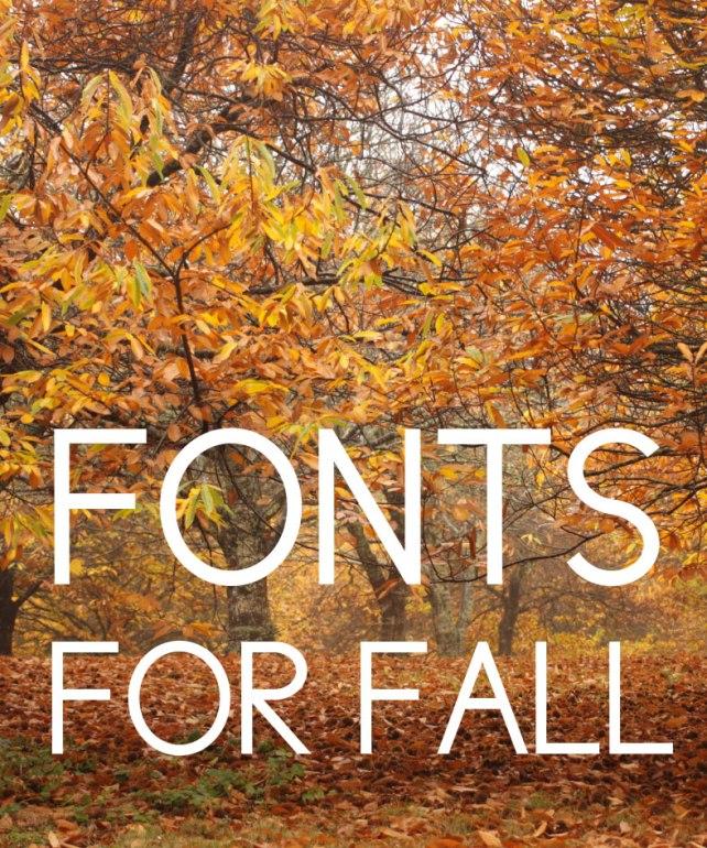 Fall Fonts