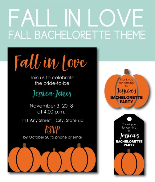 Fall in Love Themed Bachelorette