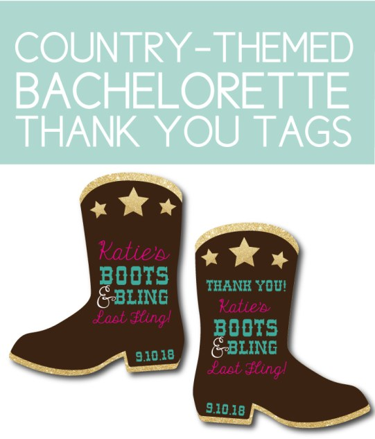 Custom Country themed thank you tags you can print at home