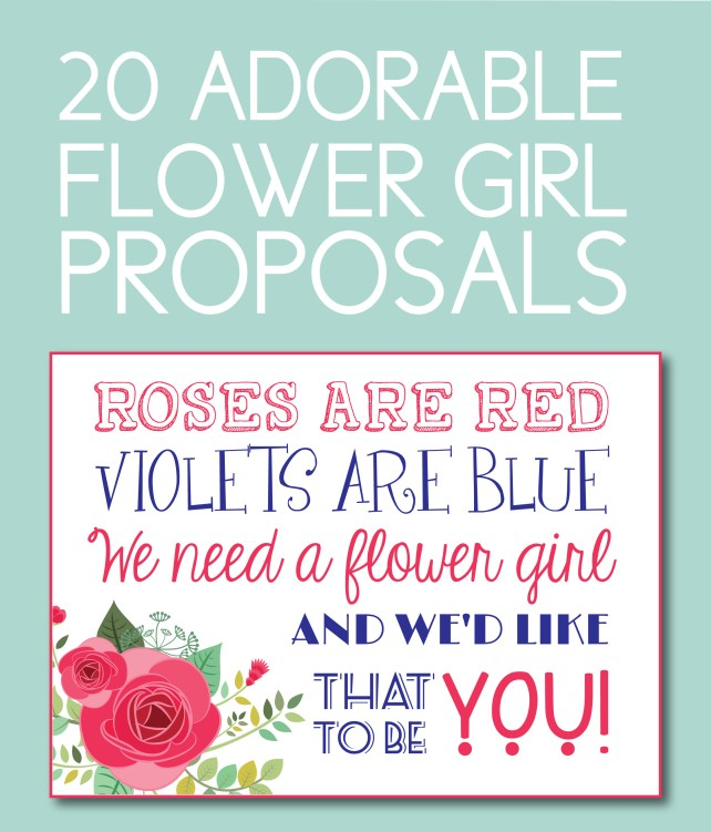 Adorable Flower Girl Proposals You Can Download Instantly
