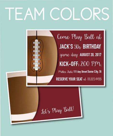 Team Colors Invite