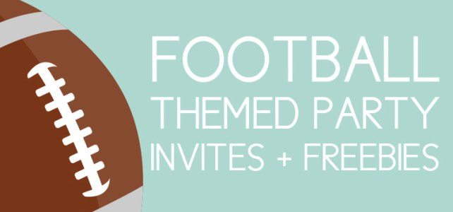 10 Awesome Football Invites for Any Party + Free Designs