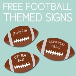 Free Football Signs