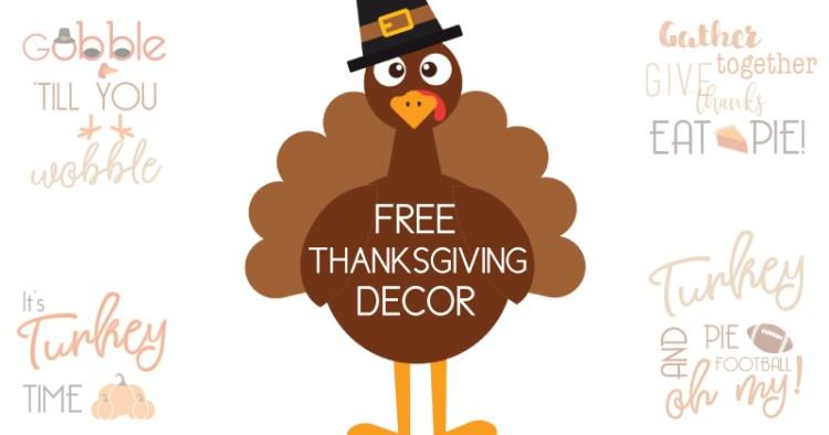 free thanksgiving decor
